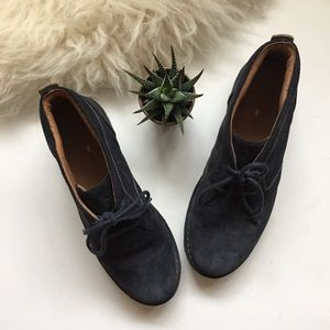 Clark's Artisan Suede Navy Lace Up Ankle Boots